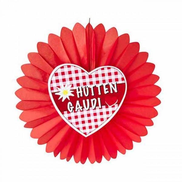 Oktoberfest hytter Gaudi papir rosette 60cm