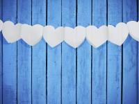 Abtupfende Girlande In Herzform Weiß 11cm x 3m