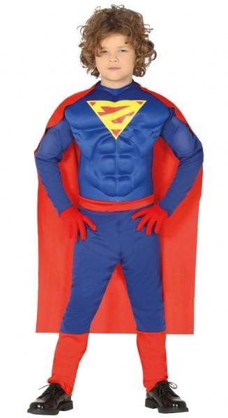 Muskulöser Superheld Kostüm für Kinder