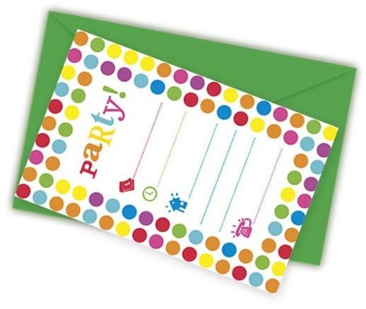 6 Bunte Happy Birthday Einladungskarten