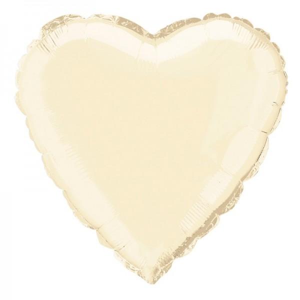 Herzballon True Love elfenbein