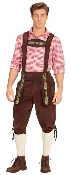 Bruine traditionele broek voor heren