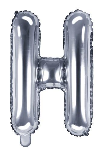 Ballon aluminium H argent 35cm