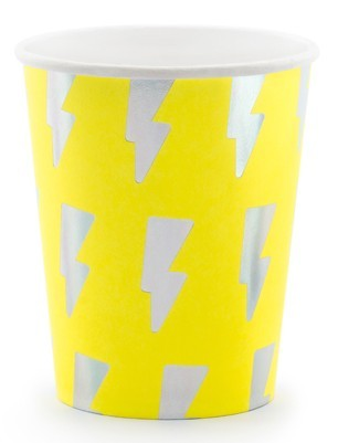 6 gobelets en papier Electric Party 260 ml