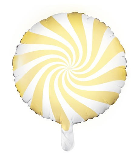 Candy Swirl Foil Balloon Yellow 45cm