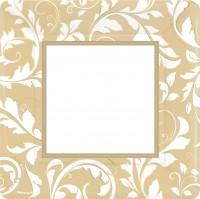 8 Golden Anniversary Pappteller 25cm