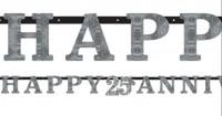 Happy 25 Silver Anniversary Hängedekoration