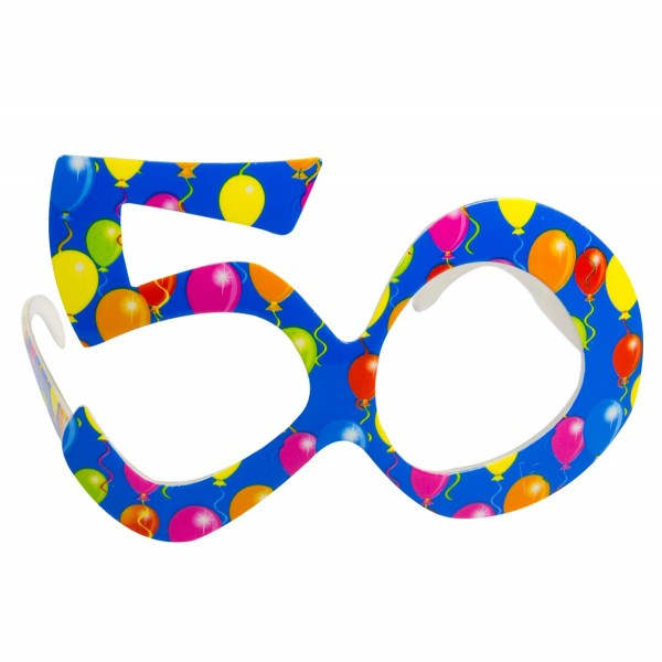 Partybrille 50 Balloons blau