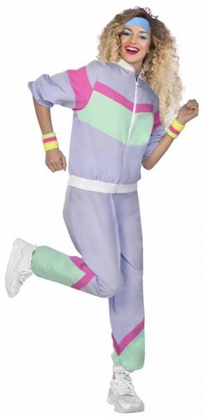 Survêtement années 80 violet unisexe