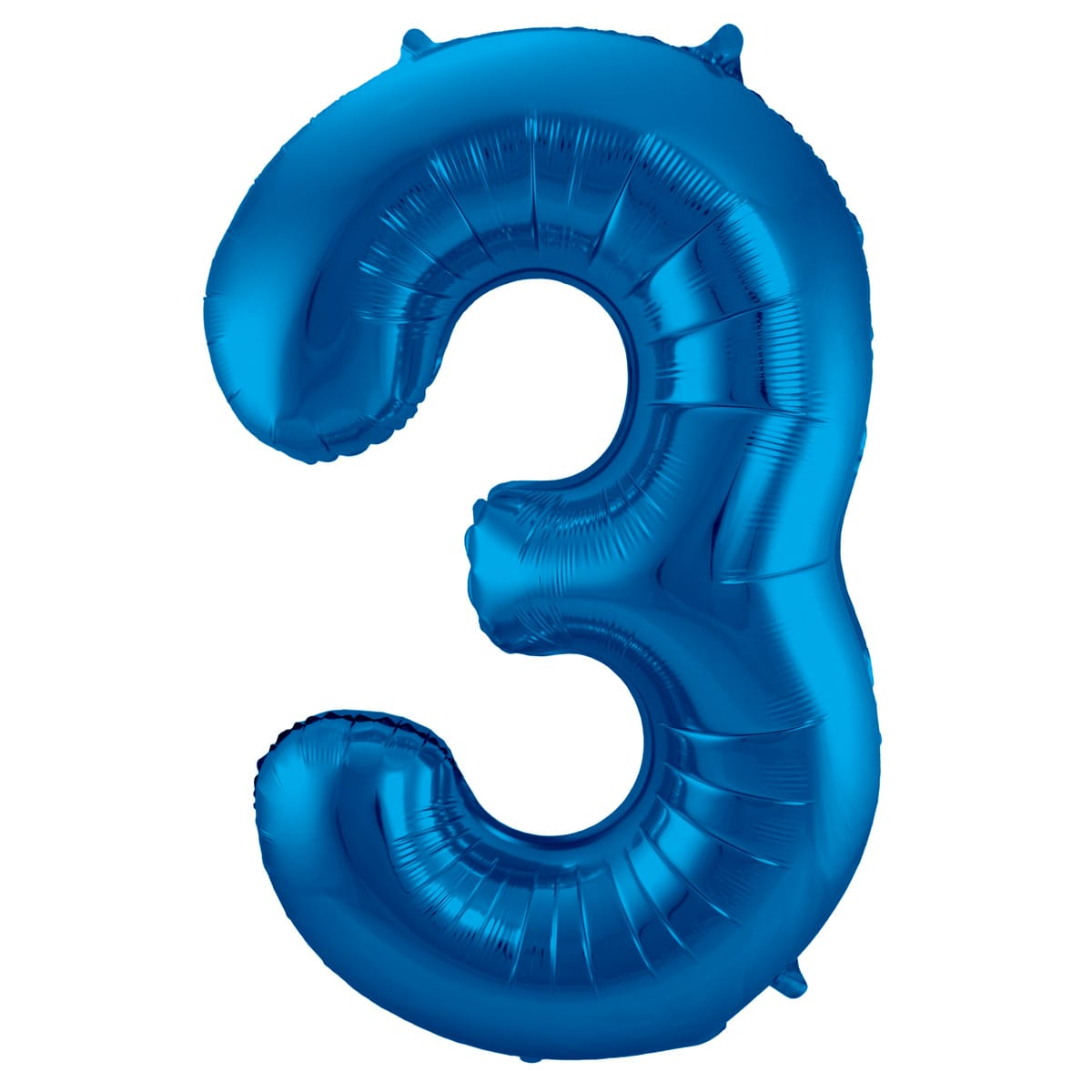 Foil Balloon Number 3 Blue 86cm