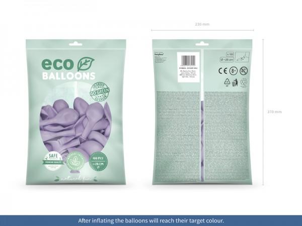 100 eco pastel ballonnen lavendel 26cm