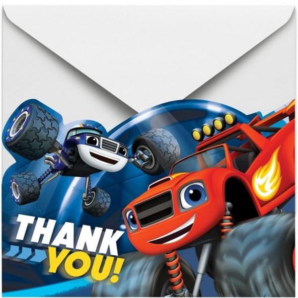 8 Blaze und die Monster-Maschinen Dankeskarten