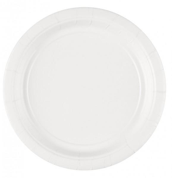 8 paper plates Mila white 17.7cm