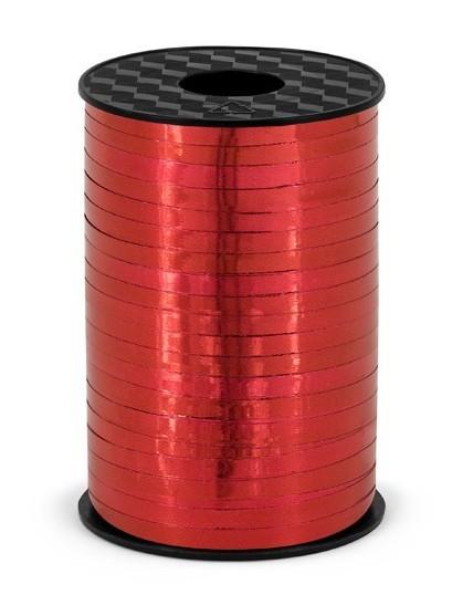 225m wstążka prezentowa Hongkong metalik czerwony