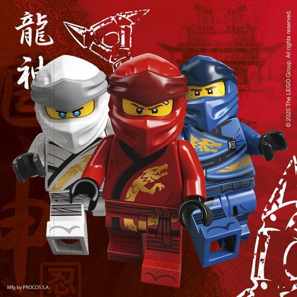 20 servilletas Lego Ninjago 33cm
