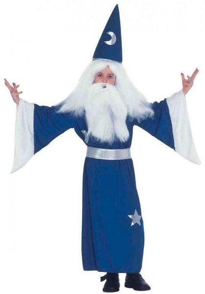 Blauer Zauberer Merlon Kinderkostüm