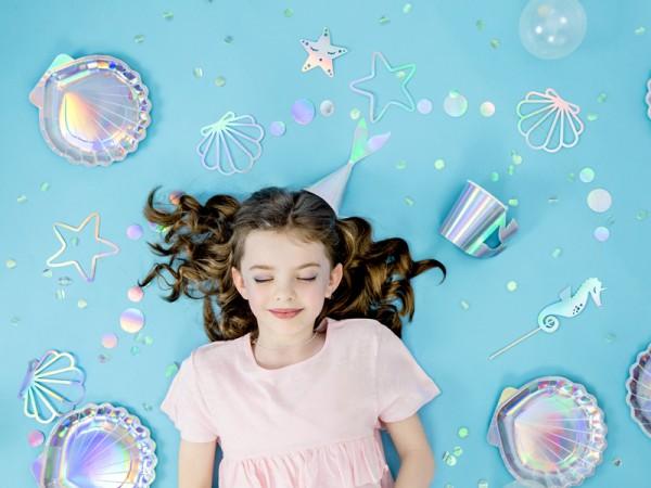 6 Mermaid Princess Pappteller 18,5cm 3