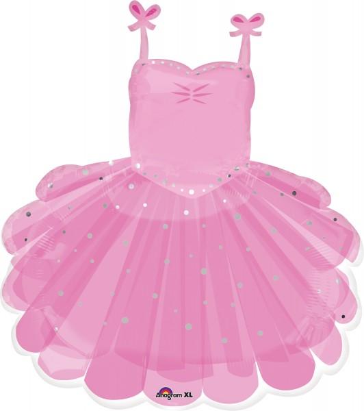 Foil balloon ballerina tutu pink sparkle