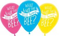 6 Baby Bienen Ballons 27,5cm