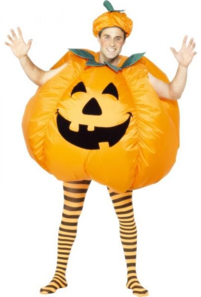Aufblasbares Halloween-Kürbis Kostüm