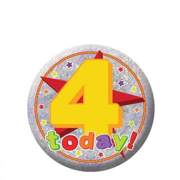 Botón holográfico 4 ° cumpleaños 5,5cm