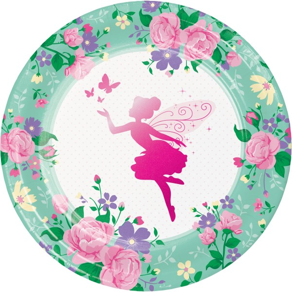 8 Flower Fairy Pappteller 23cm