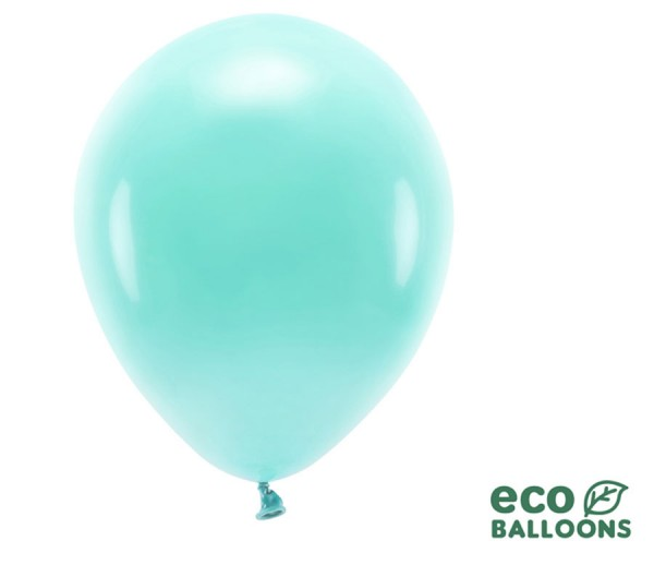10 Eco Latexballons pastell mint 30cm