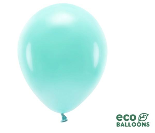 10 balonów lateksowych eko pastelowa mięta 30cm
