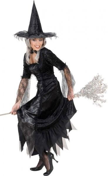 Eleganza di ragnatela della strega del costume di Halloween