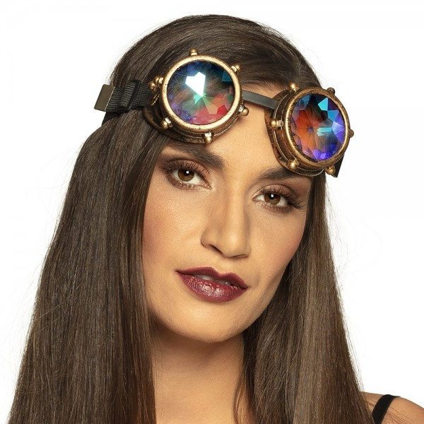 Steampunk Brille mit Prisma Gläsern