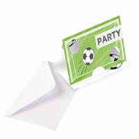 8 Einladungskarten Fußballparty