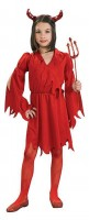 Teufel Kinder Kostüm Devil Rot Flammen