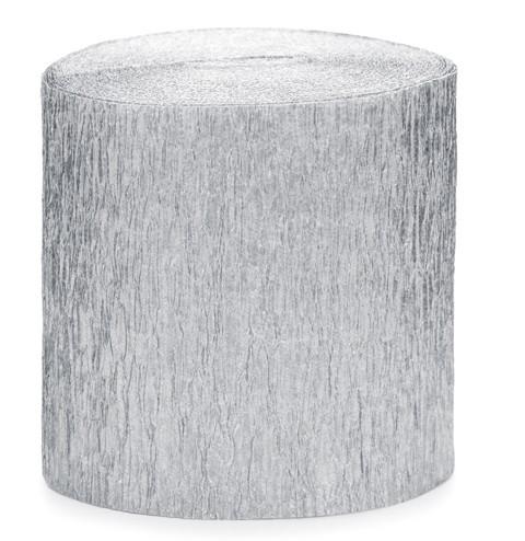 10m crêpepapier zilver 4 stuks