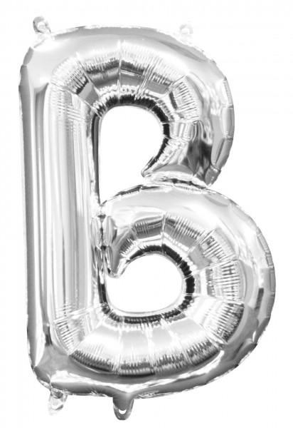 Mini ballon aluminium lettre B argent 35cm