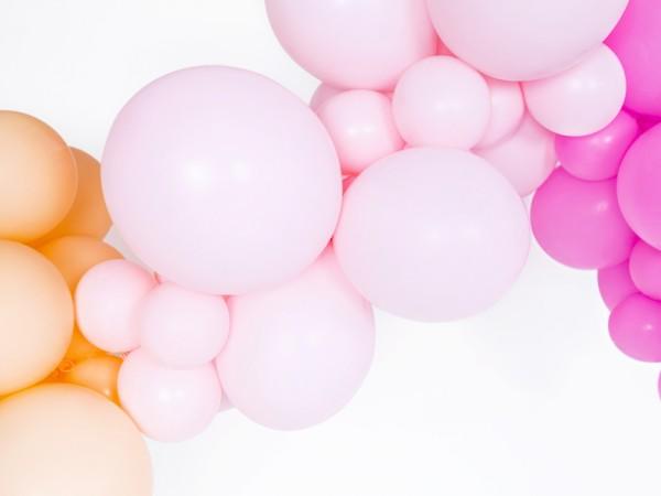 100 ballons étoiles rose pastel 12cm