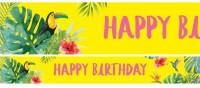 3 Tropical Vibes Birthday Papierbanner 1m