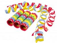 3 kunterbunter Partyspaß Luftschlangen Rollen