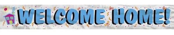 Willkommen zu Hause Folienbanner 1,03m