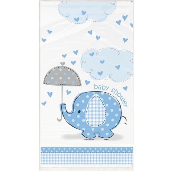 Elefanten Baby Party Tischdecke Azurblau 137 x 274cm