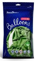 10 Partystar metallic Ballons apfelgrün 27cm