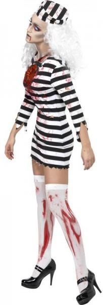 Gefangene Zombie Sträflings Frau Mit Wunde Kostüm