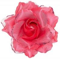 Rosy Haarspange mit Rose Pink