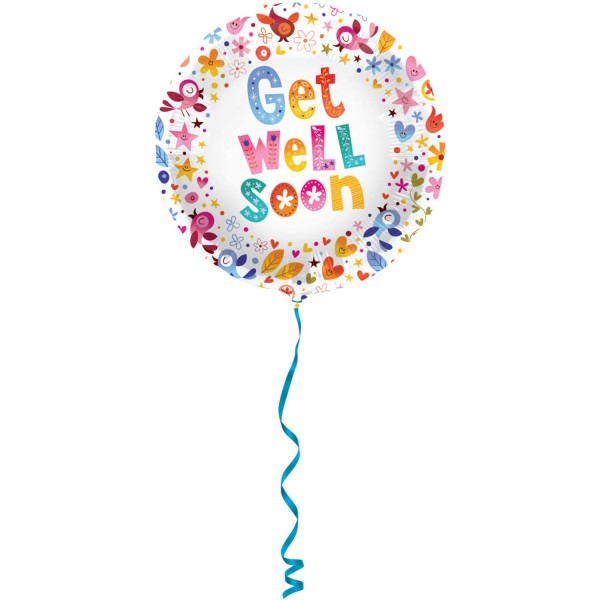 Floraler Get well soon Ballon 45cm