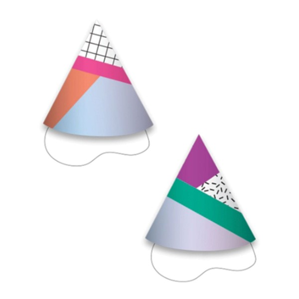 12 Birthday Vibes party hats 9.5cm