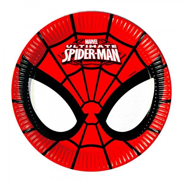 8 Spiderman Comic Pappteller 20cm