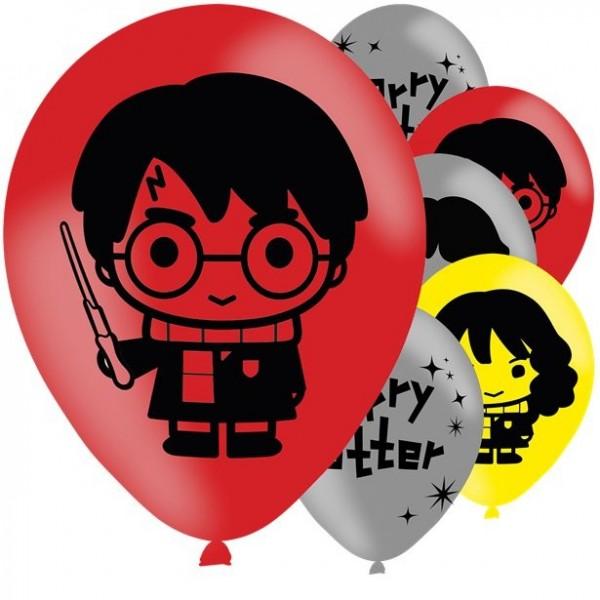 6 globos de látex de Harry Potter 28cm