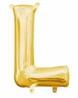 Mini Folienballon Buchstabe L gold 35cm