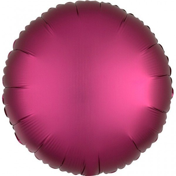 Round foil balloon in satin look pink