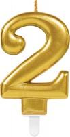 Goldene Zahlenkerze 2