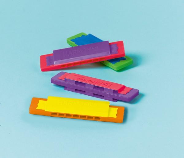 Fête d'anniversaire pour enfants Harmonica coloré pour sacs cadeaux 12 pièces